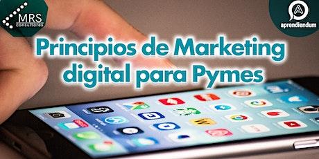 Principios de Marketing digital para Pymes entradas