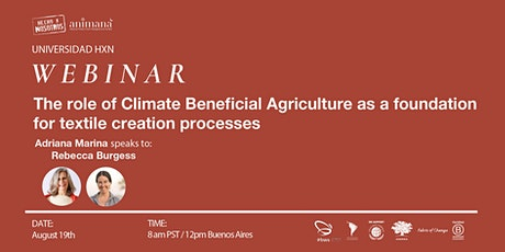 Climate Beneficial Agriculture as foundation for textile creation processes tickets