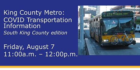 King County Metro Transportation Information Webinar tickets