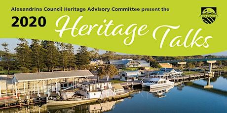 2020 Heritage Talk - Heritage Tourism tickets