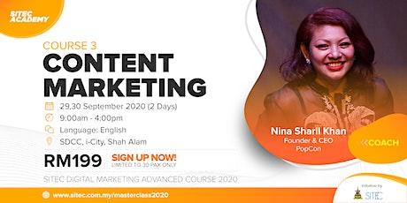 SITEC Digital Marketing Advanced Course 3: Content Marketing tickets