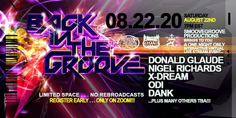 Back In The Groove tickets