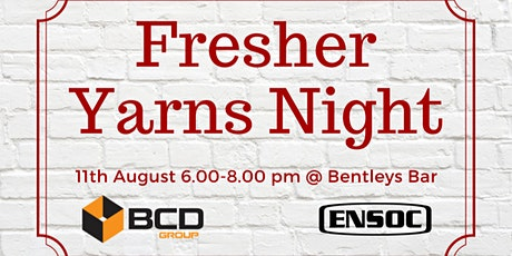 Fresher Yarns Night tickets