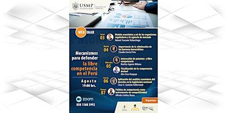 """Seminario web """"Mecanismos para defender la libre competencia en el Perú"""" entradas"""
