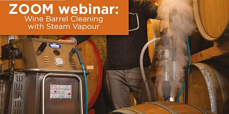 Weekly live ZOOM webinar on wine barrel cleaning with steam vapour tickets