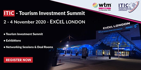 ITIC – TOURISM INVESTMENT SUMMIT  2 - 4 November 2020 tickets