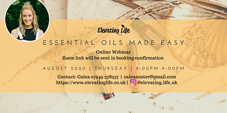 Essential Oils Made Easy in August tickets