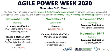 Agile Powerweek Munich | Conference & Open Space, 7 Certified Trainings! tickets
