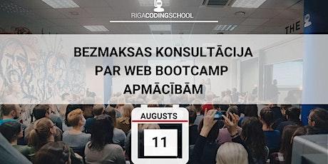 Konsultācija par WEB BOOTCAMP kursu tickets
