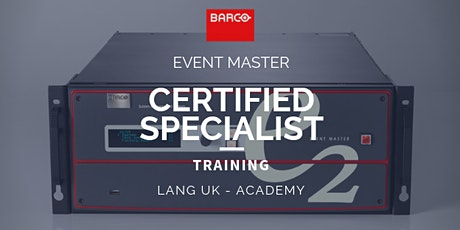 5th - 7th OCT 2020 - BARCO - Event Master Training - Certified Specialist tickets