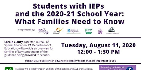 Students with IEPs and the 2020-21 School Year tickets