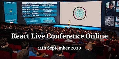 React Live Online Conference 2020 boletos