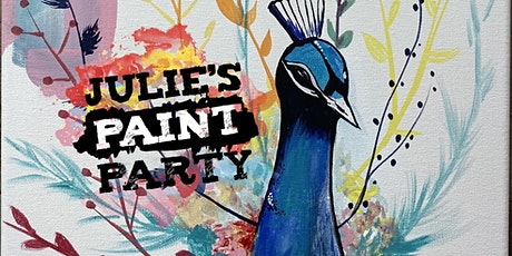 Tall Peacock Virtual Paint Party tickets