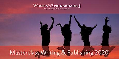 Masterclass Writing & Publishing tickets