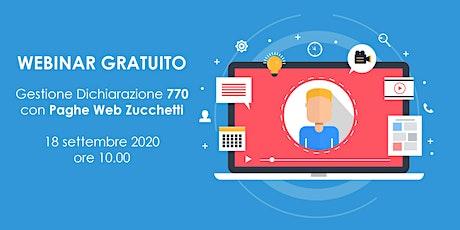 WEBINAR| GESTIONE 770-2020  CON PAGHE WEB ZUCCHETTI biglietti