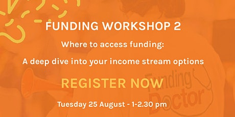 Funding workshop 2: Where to access funding tickets