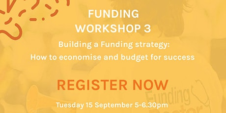 Funding workshop 3: Building a funding strategy tickets