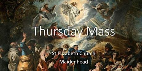 Book Online: Thursday Mass (St Elizabeth) tickets