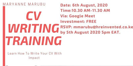 Revamping Your CV With Impact Webinar tickets