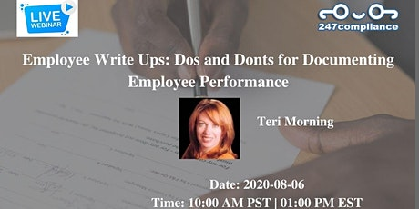 Employee Write Ups: Dos and Donts for Documenting Employee Performance tickets