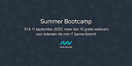 New Nexus - Summer Bootcamp: ruim 15 webinars over IT, BI en samenwerking tickets