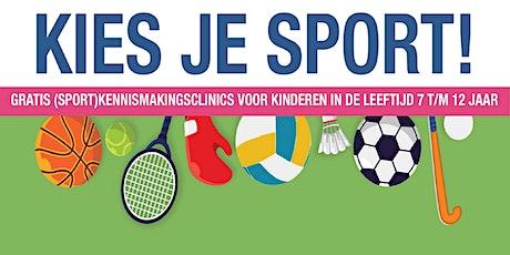 Kies je Sport! - Tennis tickets