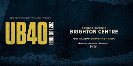 UB40 2021 (The Brighton Centre, Brighton) tickets