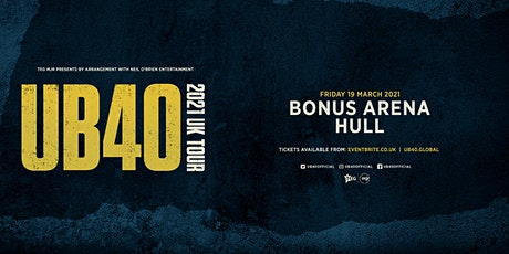 UB40 2021 (Bonus Arena, Hull) tickets