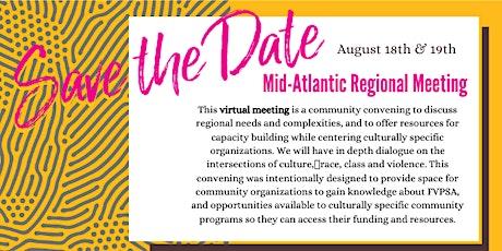 Mid-Atlantic Regional Meeting tickets