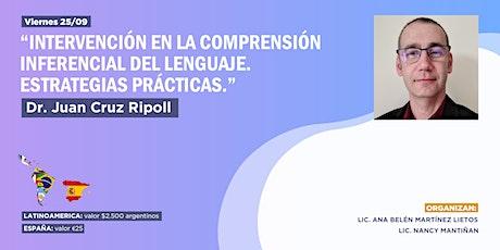 """Webinar """"intervención en la Comprensión Inferencial del lenguaje"""" entradas"""