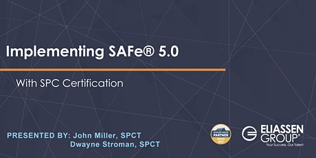 REMOTE - GTR - Implementing SAFe with SPC Certification tickets