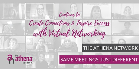 Online  Athena Muswell Hill and Finchely  Monthly Networking Meeting for Female Entrepreneurs and Executives tickets