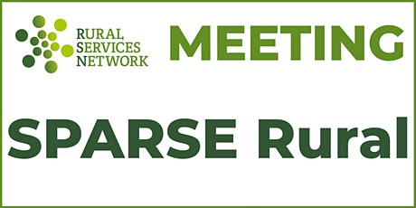 SPARSE Rural meeting tickets