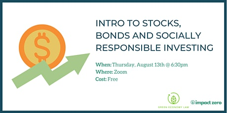 Intro to Stocks, Bonds and Socially Responsible Investing tickets