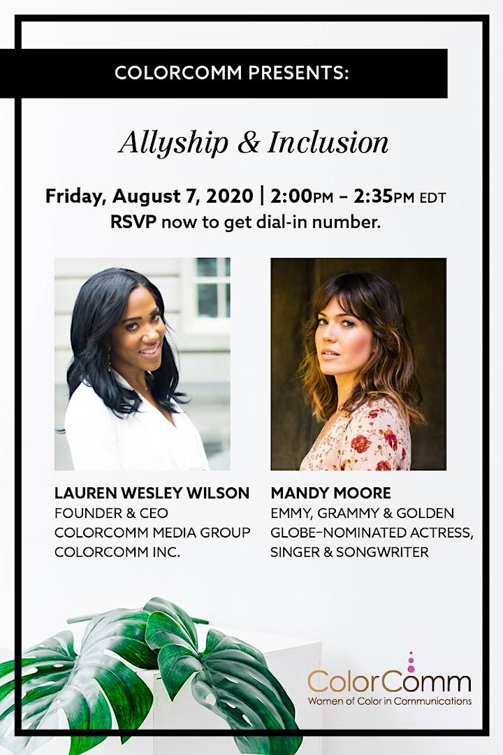 ColorComm Presents: Allyship & Inclusion w/ This Is Us' Mandy Moore image