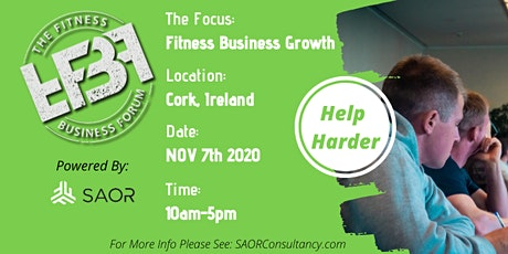 THE FITNESS BUSINESS FORUM | HELP HARDER | CORK 2020/2021 tickets