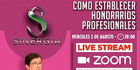 "SEMINARIO ""COMO ESTABLECER HONORARIOS PROFESIONALES"" entradas"