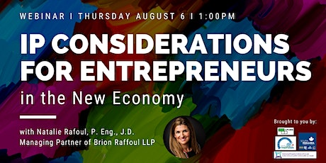 IP Considerations for Entrepreneurs in the New Economy tickets
