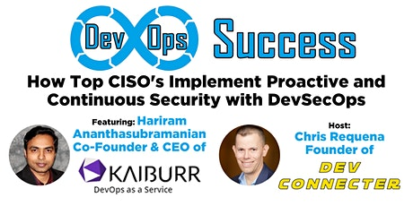 How Top CISO's Implement Proactive and Continuous Security with DevSecOps tickets