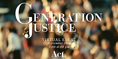 Generation Justice 2020 tickets