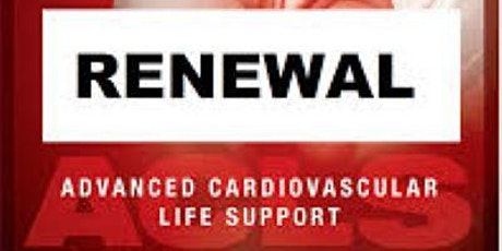 AHA ACLS Renewal August 7, 2020  (INCLUDES FREE BLS!) tickets