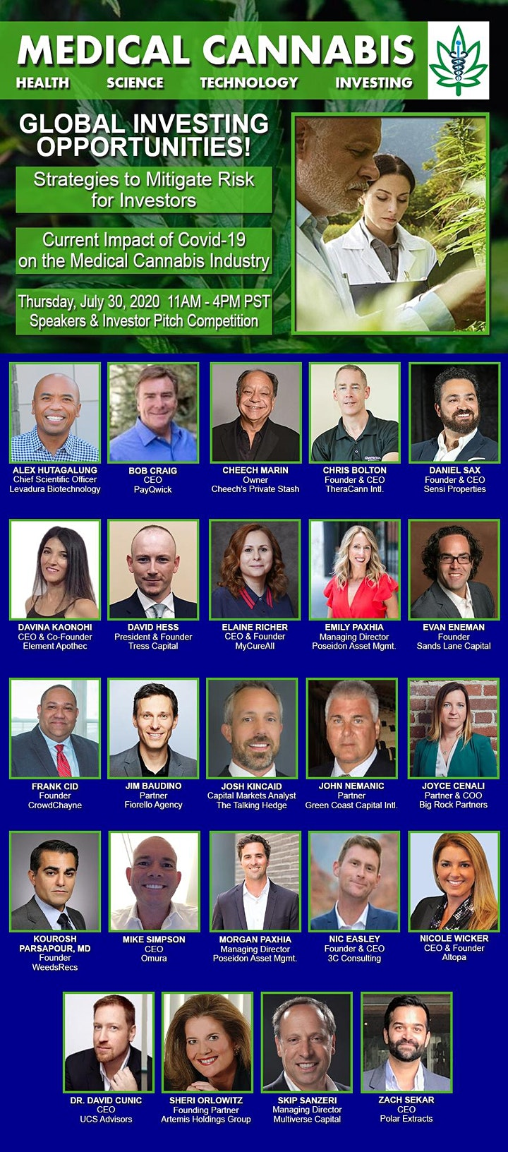 Medical Cannabis Speaker & Investor Pitch Competition image
