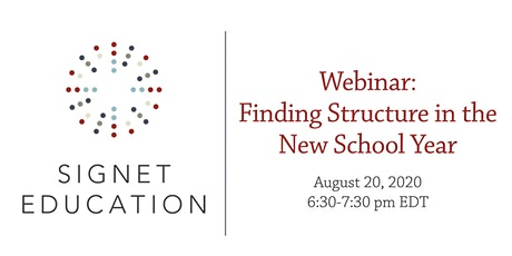 Finding Structure in the New School Year tickets