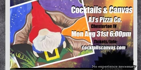 """Cocktails & Canvas """"Happy Gnome"""" tickets"""