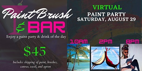 Paint Brush & Bar Virtual Paint Party tickets