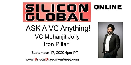 Silicon Global Online:  Ask VC Mohanjit Jolly Anything tickets