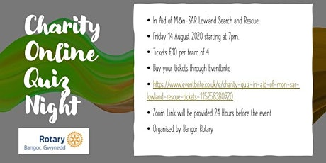 Charity Quiz in Aid of  Mon SAR Lowland Rescue tickets