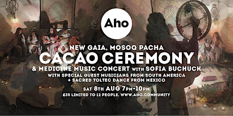 Cacao Ceremony & Medicine Music Concert at Aho tickets