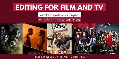 Editing for film and TV: workshop + live critique tickets