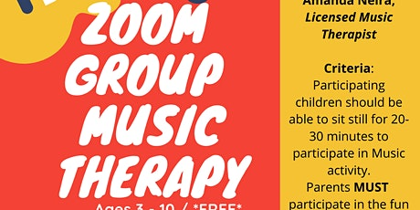 Copy of Group Music Therapy Ages 3-10 tickets